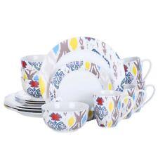 VEWEET Betula 16-Piece Porcelain Combination Dinner Set Plate Mug Bowl Ceramic