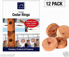 Knight 12 PK Polilla Repelente Killer Hanger Cedar Wood larvas Anillos 100% Natural