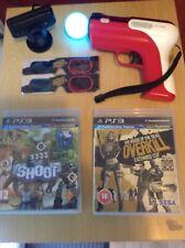 (PS3) (la casa de los muertos) (Overkill) (el tiro) juego PS3 Move & Gun Cámara