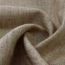 "Natural Hessian Jute Sack Upholstery Craft Fabric 54"" 137cm wide per meter"