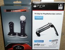 Playstation PS3 Ps Move Dual Cargador Dock oficial Ojo Cámara TV Clip A ESTRENAR!