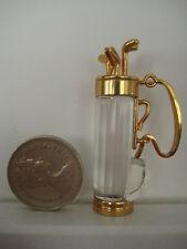 Miniatura Cristal Swarovski Recuerdos Bolsa De Golf