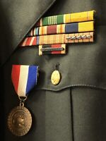 WWII Army Military Serge Green Complete Dress Uniform Set With Medals