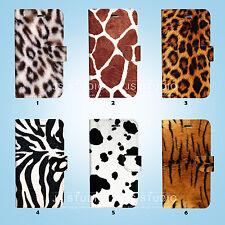 Animal Fur Skin Flip Wallet Cover Sony Xperia Z2 Z3 Z5 LG G5 090