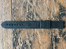 Officine Panerai Strap 24/22mm Black Leather - Cinturino Originale Pelle