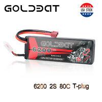 GOLDBAT 6200mAh 80C 7.4V RC 2S LiPo Battery Deans Plug for RC Car Truck Buggy