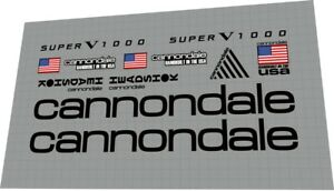 Cannondale Super V 1000 / 1995 decal set