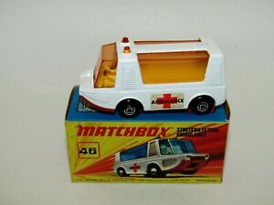Matchbox Superfast No 46 Stretcha Fetcha Ambulance AMBER GLASS VNMIB RARE