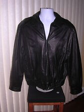 Vtg Mens Wilsons Motorcycle Jacket Size L and Black