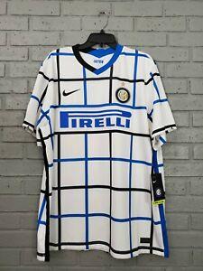 Nike $90 Inter Milan Away 2020/2021 Soccer Jersey CD4239-101 Men's 2XL