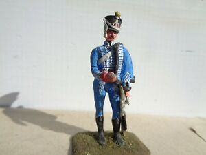Imrie Risley, Napoleonic French officer cavalry Hussar, well done 54mm lead, JL