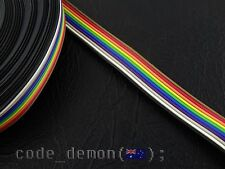 New 10 Pin Rainbow Colour Flat Ribbon Cable 1.27mm Pitch 500mm - Arduino / AVR