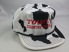Tow's Country Store Buck Deer Hat Black White Snapback Baseball Cap Made USA