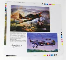 AIRFIX LLYUSHIN LL-2 SHTURMOVIK + YAKOVLEV YAK-9 Original Printers Proof R Cross