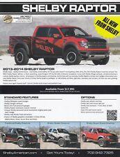 FORD F-150 SHELBY RAPTOR Tuning Pickup Prospekt Brochure Sheet USA 2014 H
