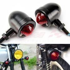 Motorcycle Black Bullet Blinker Turn Signal Light Custom Bobber Chopper Cruiser