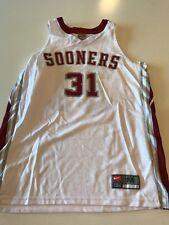 Nike Men's Oklahoma Sooners Basketball Jersey, White, #31, Size Large