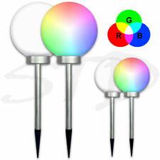 Weiß/ RGB LED Solar Leuchtkugel Solar Kugel Leuchte Licht Erdspieß Ø 20 / 10 cm