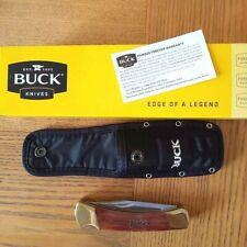 Buck knives 110/112 Combo Folding Hunter Brown Bone Handles w/ Nylon sheath