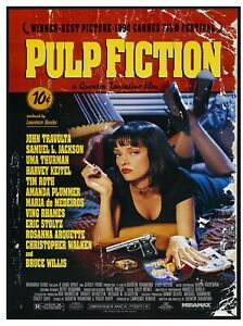 VINTAGE POSTER (PULP FICTION) - FUN SOUVENIR NOVELTY FRIDGE MAGNET / NEW / GIFT