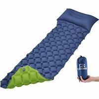 Ultralight Inflatable Sleeping Mat/Camping Mattress With Pillow & Storage Bag