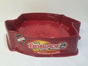 Beyblade Arena Max Stampede Metal Fusion Stadium Red IMPERFECT