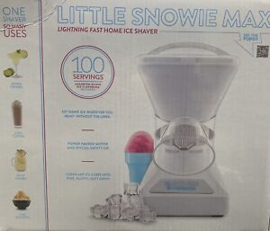 Little Snowie Max Shaved Ice Machine Bundle For Snow Cones to Frozen Drinks NEW