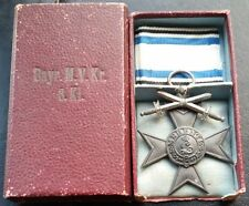 ✚7222✚ German WW1 Bavarian Military Merit Cross 3. Class with swords medal CASED