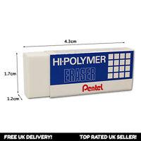 4 x Pentel ZEH/05 Hi-Polymer Eraser Rubber - Small Erasers