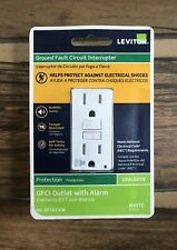 GFCI Outlet with Alarm GFTA1-KW 15 Amp, 125 Volts, White 15A-125V