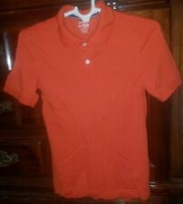 Childrens Place Boys Polo Shirt Short Sleeve Solid Orange Size Xl/Tg 14