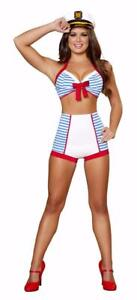 ADULT sexy ROMA playful PINUP sailor HALLOWEEN party COSTUME high WAISTED shorts