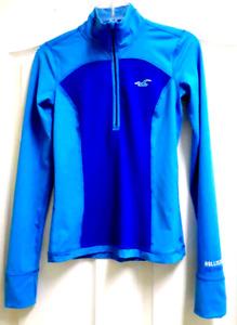 Hollister Sport Women Jr's S Athletic Long Sleeve 1/4 Zip Top Jacket Racer Back