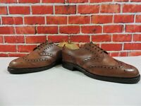 Church's Cheaney Full Brogues Tan Shoes Newton Benchmade UK 7 F US 8 E 41