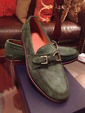 Ralph Lauren Mens Leather Suede Thatcher Driver Shoes Made In Usa New Box Sz 9