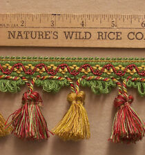 "Tassel Trim in Bright Green Red Pink Yellow Gold 330"" Long Sewing Crafts  TR 907"