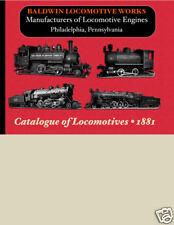 Baldwin Locomotive Works STEAM ENGINE TRAIN Catalog