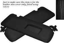 Negro Stitch Para Bmw E46 Convertible Cabrio 98-05 2x Sol Viseras cubiertas de cuero