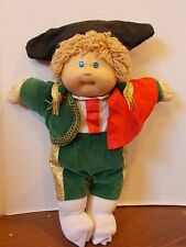 VINTAGE CABBAGE PATCH KIDS DOLL BLONDE HAIR BLUE EYES 1978-1983 MATADOR OUTFIT