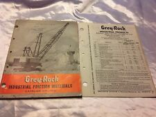 Grey-Rock 1965 Catalog I-105 FRICTION Materials SPECIFICATIONS Shovel Dragline