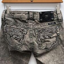 Miss Me Jeans Womens Embellished Rhinestone Skinny Jeans Size 25 #TP572451 Olive