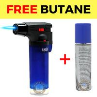 Eagle Jet Torch Gun Lighter Adjustable Flame Windproof Butane Refillable - BLUE
