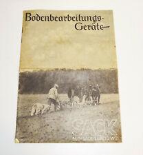 Katalog Rud. Sack Leipzig Bodenbearbeitungs - Geräte 1935er Landwirtschaft  (H7