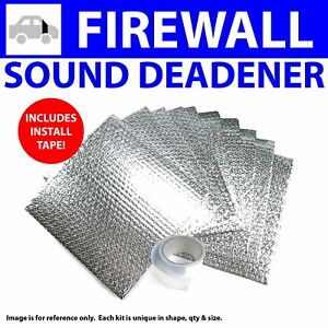 Heat & Sound Deadener Chevy Truck 1963 - 1966 Firewall Kit + Seam Tape 10773Cm2