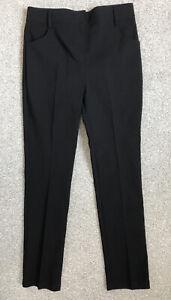 Debenhams Girls Bengaline Stretch School Trousers. Black, Age 8. Like M&S. BNWT