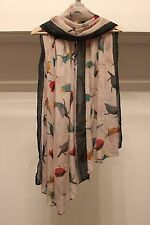 Luxury Viscose Bird Print Maxi Scarf Hijab