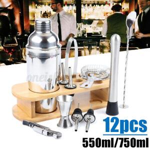 Cocktail Shaker Set Drank Maker Mixer Spirits Bar Strainer Bartender Kit 750ML