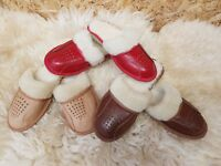 New Ladies Womens Hard Sole Warm Winter Furry Slip On Mules Slippers Shoes NL