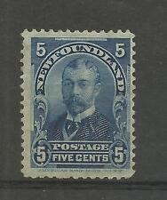 CANADA NEWFOUNDLAND 1899  5c Blue King George   mounted mint