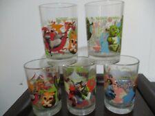 2007 Dreamworks McDonald's Shrek The Third Set of 5 Drinking Glass Tumblers Lot